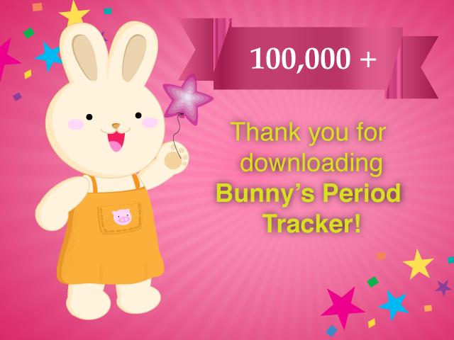 bunny's period tracker 100k downloads
