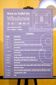 Windows 8 Developer Camp agenda